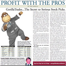 Profit with the pros print ad in Barrons