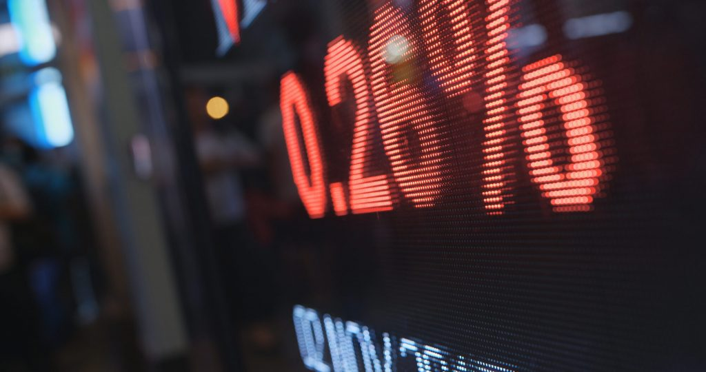 chart stock market crash