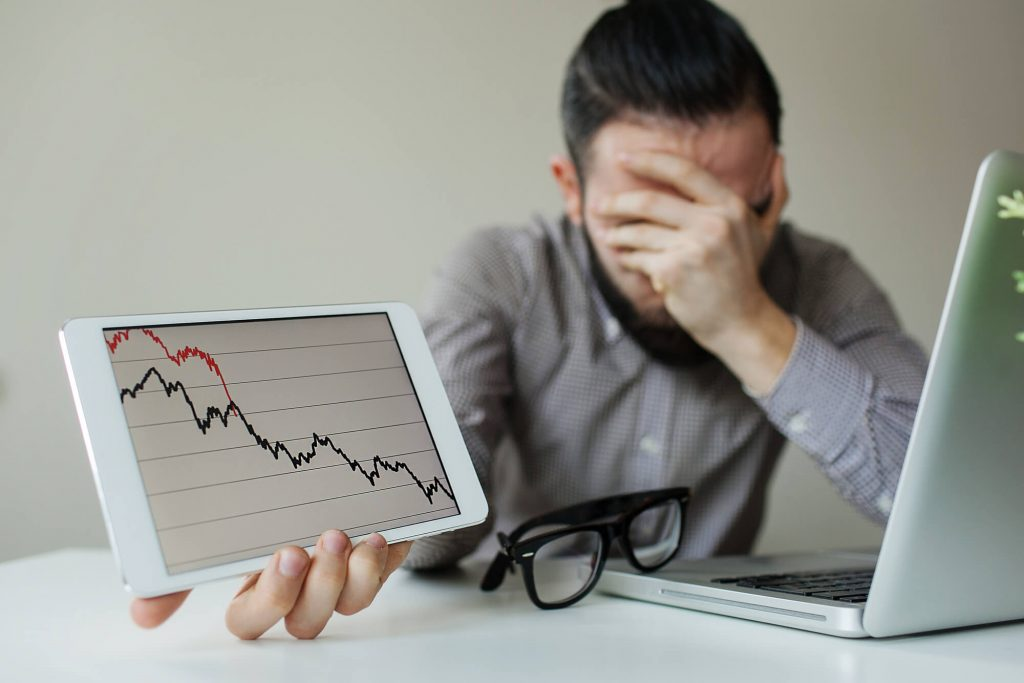 upset man stock