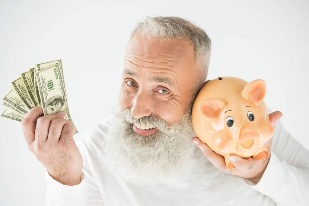 man making investment plan